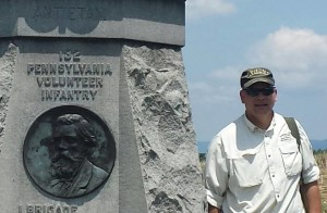 Standing next to the 132 PA Monument at Antietam.