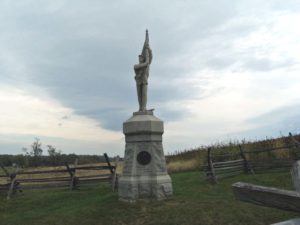 !32nd Pennsylvania Volunteer Infantry monument at the Sunken Road