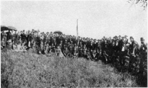 Members of the 132nd Pennsylvania return to Antietam for a reunion in 1894.