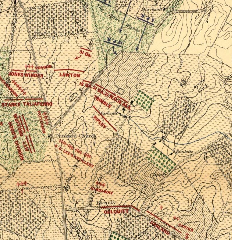The Confederate Battle Line Stretches Across The Mumma Farm At Daybreak On September 17 1862