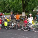 Family biking the C&O