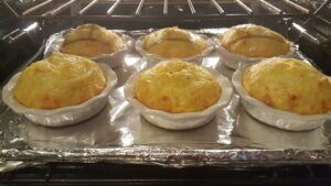 frittatas in the oven