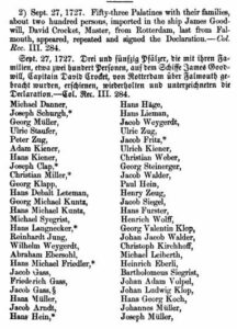 passenger list of the James Goodwill