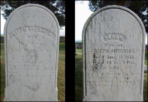 Joseph and Sarah Sherrick gravestone