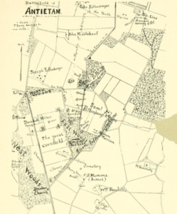 Gould Map of the Antietam Battlefield