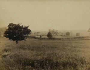 Sam Poffenberger farm in distance