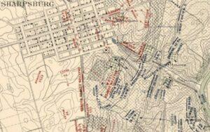 Carman-Cope Battlefield Map, 4:20pm, Sept. 17, 1862