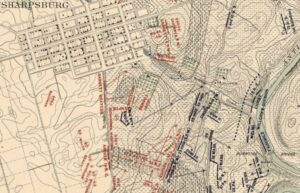 Carman-Cope Battlefield Map, 5:30pm, Sept. 17, 1862