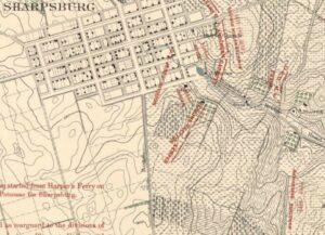 Carman-Cope Battlefield Map, 7:30am, Sept. 17, 1862